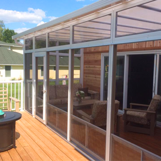Sunroom With Insulated Roofing